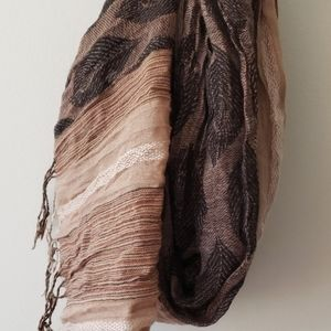Collections Eighteen Black/Tan/White Scarf